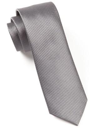 Tie Bar Skinny Solid Charcoal Tie