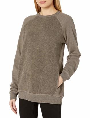 Velvet by Graham & Spencer Women's Camryn Athleisure and Sherpa Fleece Sweater