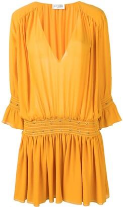 Saint Laurent studded Georgette dress