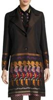 Etro Half Printed Wool Coat