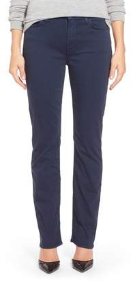 7 For All Mankind Jen7 by Stretch Sateen Slim Straight Leg Pants
