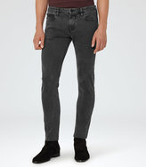 Reiss Reiss Paige - Slim Washed Jeans In Black