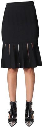 Alexander McQueen Pleated Hem Detail Skirt