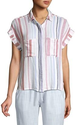 Bella Dahl Cap Sleeve Stripe Shirt