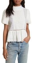 Sea Women's Cotton Eyelet Sweater Top