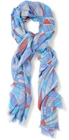J.Mclaughlin Tapestry Scarf in Optic Wave