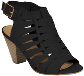 City Classified Black Lineup Sandal