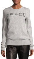 Michael Kors Holiday Peace Cashmere Sweater, Gray