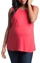 Women's Bun Maternity High Neck Maternity Tank