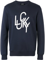 A.P.C. front print sweatshirt - men - Cotton - S