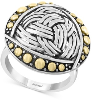 Effy Braided-Look Statement Ring in Sterling Silver & 18k Gold