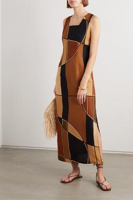 Lisa Marie Fernandez Net Sustain Charlotte Printed Cotton-gauze Maxi Dress - Brown