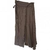 Preen by Thornton Bregazzi Blue Cotton Skirt for Women
