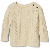 Gap Aran cable knit sweater