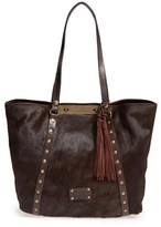 Patricia Nash 'Cavalino Benvenuto' Genuine Calf Hair & Leather Tote - Brown