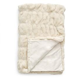 Hudson Park Collection Hudson Park Sculpted Faux Fur Throw - 100% Exclusive