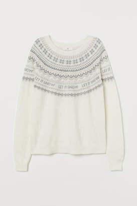 H&M Alpaca-blend Sweater - White
