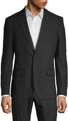 Nhp Extra Slim-Fit Plaid Notch-Lapel Sportcoat