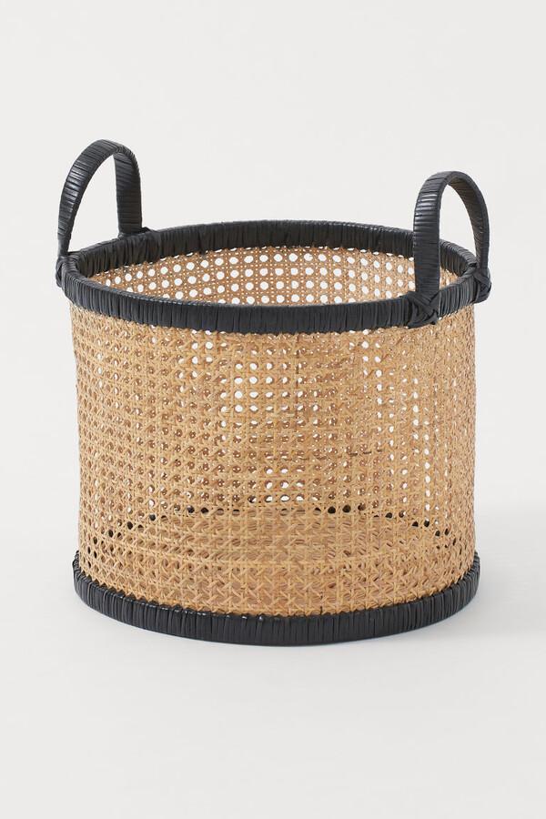 H&M - Rattan Basket - Black