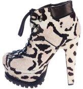 Alaia Ponyhair Platform Boots w/ Tags