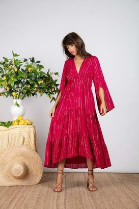 SUNDRESS Fuchsia Claudia Long Roma Dress - XS/S