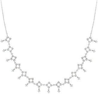 Djula White Gold And Diamond Lace Choker Necklace