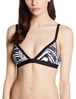 Moontide Women's Cybertron Shoulder Straps Triangle Striped Bikini Top