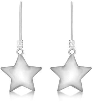 Tuscany Silver Women's Sterling Silver Polished Star 14.5 x 29 mm Drop Earrings