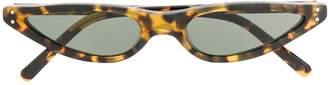 George Keburia narrow tortoiseshell sunglasses