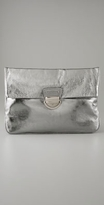 Handbags Ginny Metallic Oversized Clutch