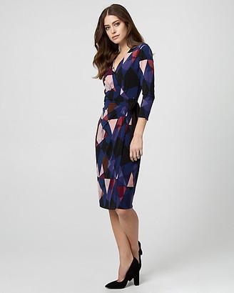 Le Château Geo Print Knit Wrap-Like Dress