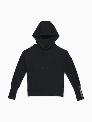 Calvin Klein Performance Waffle-Knit Turtleneck Cropped Hoodie
