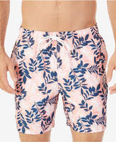 Nautica Men's Quick-Dry Floral-Print Swim Trunks