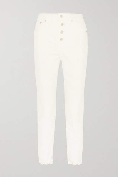 The Perfect Vintage Cropped High-rise Straight-leg Jeans - Ivory