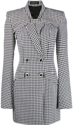 David Koma Houndstooth Blazer Dress