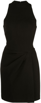 Halston Draped Mini Dress