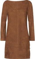 Vanessa Seward Blunt suede mini dress