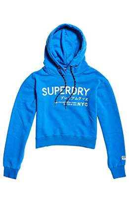 Superdry Women's Elissa Cropped Hood Sports Hoodie, (Sienna Pink Q4m), X-Small (Size: 8)
