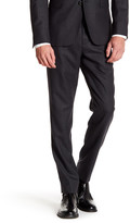 "Brooks Brothers Charcoal Pinstripe Wool Pant - 30-34"" Inseam"