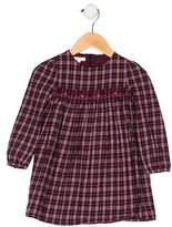 Gucci Girls' Plaid Embroidered Dress