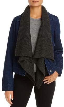 Bagatelle Denim Jacket with Removable Knit Trim