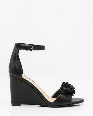 Le Château Floral Ankle Strap Wedge Sandal