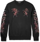 Alexander McQueen Embroidered Cotton-Jersey Sweatshirt