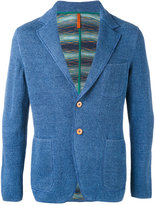 Missoni chest pocket blazer - men - Cotton/Linen/Flax - 48
