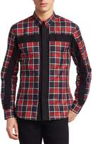 Givenchy Men's Checker Button-Front Shirt