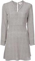 HVN v-neck shift dress