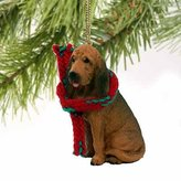 Mini A Ture Bloodhound Miniature Dog Ornament