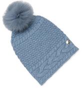 Yves Salomon Fox Fur & Wool Beanie