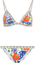 Etro Printed Triangle Bikini - Royal blue