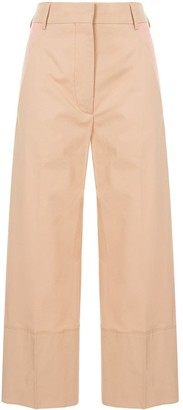 Cédric Charlier Cropped Side Panel Trousers